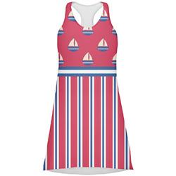 Sail Boats & Stripes Racerback Dress (Personalized)