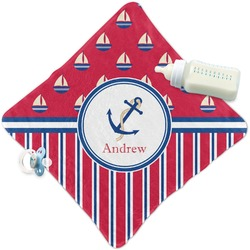 Sail Boats & Stripes Security Blanket (Personalized)