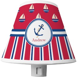 Sail Boats & Stripes Shade Night Light (Personalized)