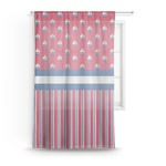 Sail Boats & Stripes Sheer Curtains (Personalized)