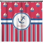 Sail Boats & Stripes Shower Curtain (Personalized)