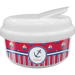 Sail Boats & Stripes Snack Container (Personalized)
