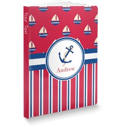 Sail Boats & Stripes Softbound Notebook (Personalized)