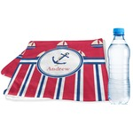 Sail Boats & Stripes Sports Towel (Personalized)