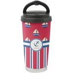 Sail Boats & Stripes Stainless Steel Travel Mug (Personalized)