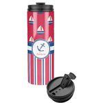 Sail Boats & Stripes Stainless Steel Tumbler (Personalized)
