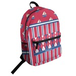 Sail Boats & Stripes Student Backpack (Personalized)