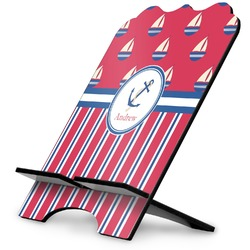 Sail Boats & Stripes Stylized Tablet Stand (Personalized)