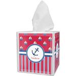 Sail Boats & Stripes Tissue Box Cover (Personalized)