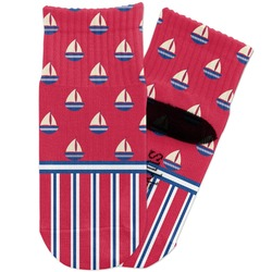 Sail Boats & Stripes Toddler Ankle Socks (Personalized)