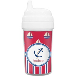 Sail Boats & Stripes Toddler Sippy Cup (Personalized)