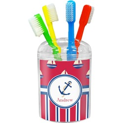 Sail Boats & Stripes Toothbrush Holder (Personalized)