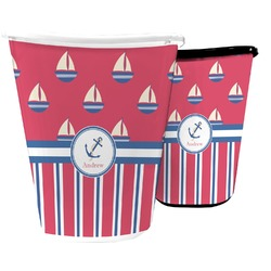 Sail Boats & Stripes Waste Basket (Personalized)