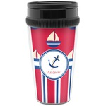 Sail Boats & Stripes Travel Mug (Personalized)
