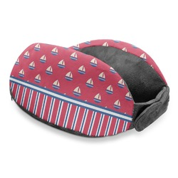 Sail Boats & Stripes Travel Neck Pillow (Personalized)