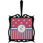 Sail Boats & Stripes Trivet with Handle (Personalized)