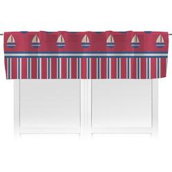 Sail Boats & Stripes Valance (Personalized)