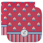 Sail Boats & Stripes Facecloth / Wash Cloth (Personalized)
