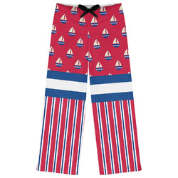 Sail Boats & Stripes Womens Pajama Pants (Personalized)