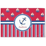 Sail Boats & Stripes Woven Mat (Personalized)