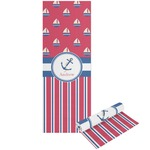 Sail Boats & Stripes Yoga Mat - Printable Front and Back (Personalized)