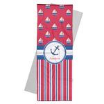 Sail Boats & Stripes Yoga Mat Towel (Personalized)