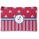 Sail Boats & Stripes Zipper Pouch (Personalized)