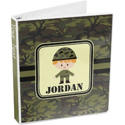 Green Camo 3-Ring Binder (Personalized)