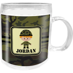 Green Camo Acrylic Kids Mug (Personalized)