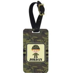 Green Camo Aluminum Luggage Tag (Personalized)
