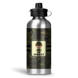 Green Camo Water Bottle - Aluminum - 20 oz (Personalized)