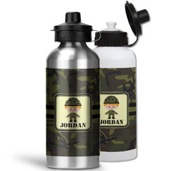 Green Camo Water Bottles- Aluminum (Personalized)