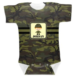 Green Camo Baby Bodysuit (Personalized)
