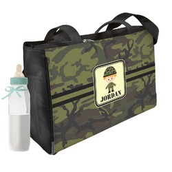Green Camo Diaper Bag (Personalized)