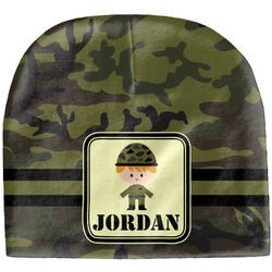 Green Camo Baby Hat (Beanie) (Personalized)