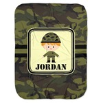Green Camo Baby Swaddling Blanket (Personalized)