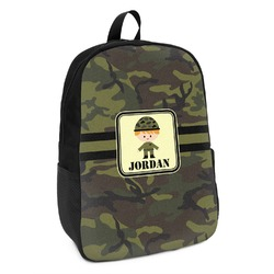 Green Camo Kids Backpack (Personalized)