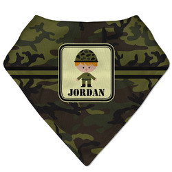 Green Camo Bandana Bib (Personalized)