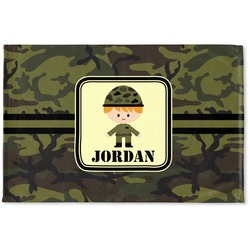 Green Camo Woven Mat (Personalized)