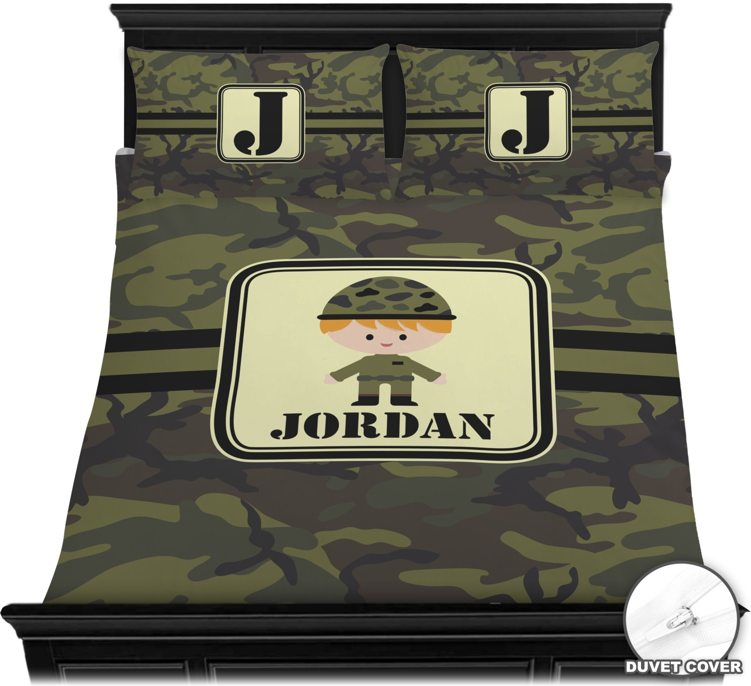Green Camo Duvet Covers Personalized Youcustomizeit