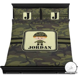 Green Camo Duvet Cover Set (Personalized)