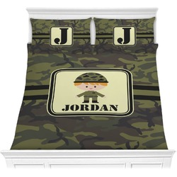 Green Camo Comforter Set (Personalized)