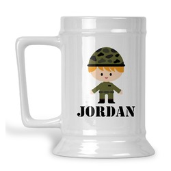 Green Camo Beer Stein (Personalized)