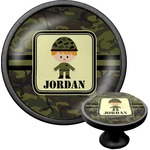 Green Camo Cabinet Knob (Black) (Personalized)