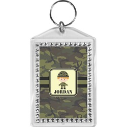 Green Camo Bling Keychain (Personalized)