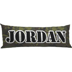 Green Camo Body Pillow Case (Personalized)