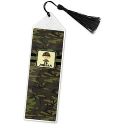 Green Camo Book Mark w/Tassel (Personalized)