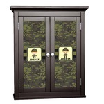 Green Camo Cabinet Decal - Custom Size (Personalized)