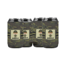 Green Camo Can Sleeve (12 oz) (Personalized)