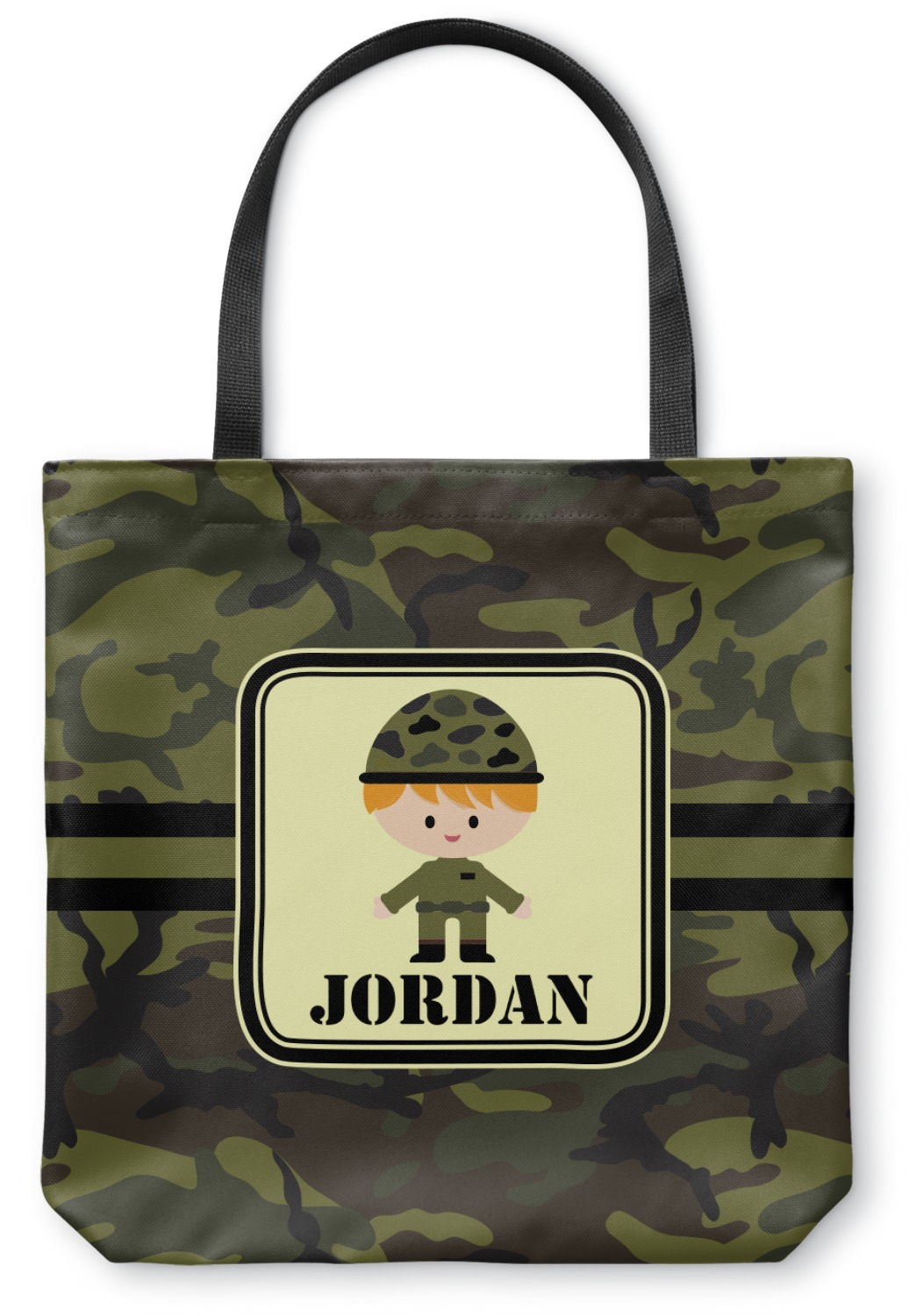 9d9cfd182bb8 Green Camo Canvas Tote Bag (Personalized) - YouCustomizeIt